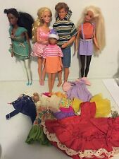 "Lot of 5 Vintage 1960s Barbie Dolls w/ Ken & Clothing ""Straight Legs"""