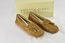 Patricia Green Lizzie Camel Suede Moccasins Loafers Flats Slippers - 11 - M66
