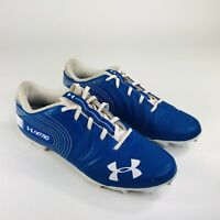Under Armour Nitro Low MC Mens Size 12 Blue White Football Cleats 3000182-400