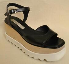 Stella McCartney Black Elyse Platform Shoes Creepers Size 37 - US size 7