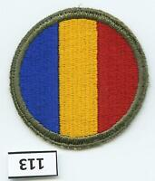Dealer Dave Military Patch WWII ERA, REPLACEMENT AND SCHOOL COMMAND, SSI (113)