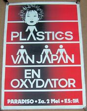 PLASTICS VAN JAPAN EN OXYDATOR CONCERT POSTER SAT 2nd MAY 1981 PARADISO HOLLAND
