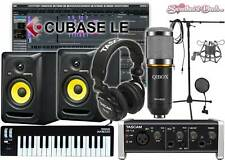Home Recording Cubase Bundle Studio Package KRK RP5 G3 Tascam Software