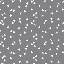 Baumwollstoff Dreiecke Grau METERWARE Webware Popeline Stoff