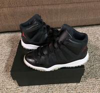 Nike Air Jordan XI 11 Retro 72-10 Black/Red 378038-002 GS Size 3Y Black Red Bred