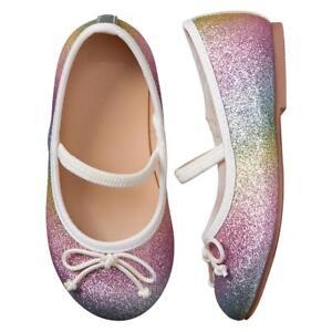 NWT Gymboree Spring Forward Rainbow Sparkle Flats Shoes Toddler Girls