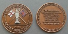 2006 OPEN LARGE BRONZE COMMEMORATIVE COIN GOLF BALL MARKER ROYAL LIVERPOOL GC