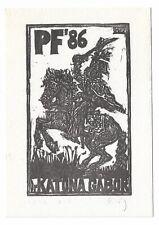 ROBERT KÖNIG: Neujahrsgraphik P. F. 1986 für Dr. Gabor Katona