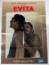 Evita - Madonna - Antonio Banderes - A1 Film Poster Poster (x-613