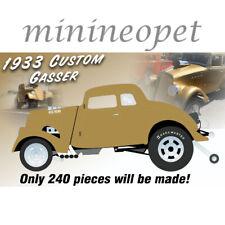 ACME A1800914 1933 GASSER 1/18 DIECAST MODEL CAR METALLIC GOLD