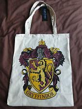 Harry Potter Canvas Tote Shopping Bag Grifondoro Cresta Hogwarts Scuola Nuovo