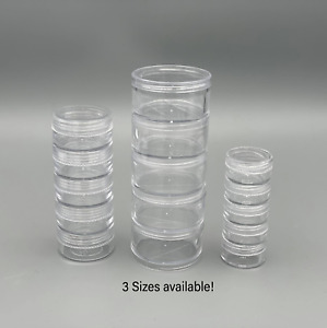 Screw Top Jar Stacking Container, Balm, Craft, Cream, Gems, Glitter, Stackable