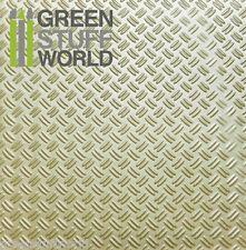 Planchas Plasticard Texturizado DOBLE DIAMANTE tamaño A4 - Plastico Poliestireno
