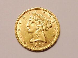 L6850     USA 5,- Dollars 1893 GOLD !!!
