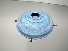 Mottle Blue 14cm Bakelite Light Shade Gallery NOS Suit Victorian & Deco shades