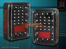 2007-2014 JEEP WRANGLER TAIL LIGHTS LED PARKING BRAKE REVERSE JDM BLACK 10 11 12