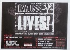 KYUSS 'Lives' Tour 2011 UK mini Press ADVERT 4x3 inches