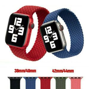 Nylon Braided Solo Loop Strap Bands For Apple Watch Series 6 SE 5 4 3 2 40/44mm