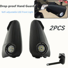 2PCS Motorcycle Off-road Vehicles Hand Guards LED w/ Lights Windproof Windshield