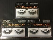 3 PAIRS ARDELL DOUBLE UP EYELASHES DOUBLE DEMI WISPIES BLACK LASHES - EL 2690
