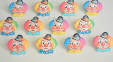 12 Clown Faces Cup Cake Rings Kid Circus Carnival Big Top Party Bag Favor Supply