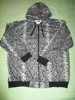 Beyond The Limit Snakeskin Pattern Sweatshirt Hoodie Size 4XL NWOT Zippered Nice