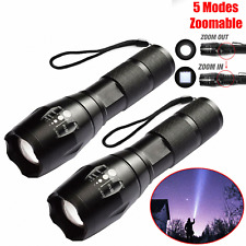 2x Tactical Powerful 950000LM Flashlight Military LED Torch Outdoor Strong Light