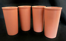 4 Vintage Tupperware 10 oz Mauve Dusty Rose Bell Tumblers Cups