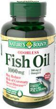 100 Fish Oil 1000mg Omega-3 Odorless Nature's Bounty Dietary Supplement Vitamin