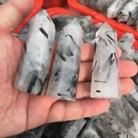Natural Black Tourmaline Crystal Obelisk Quartz Point Healing Specimen 50-60mm