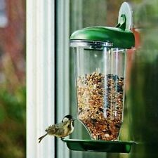 GLASS WINDOW HANGING BIRD FEEDER TABLE SEED PEANUT SUCTION CLEAR WATCHING