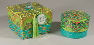 New Punch Studio Set of 2 Teal/Lime Decorative Boxes w/ Candle & Scented Soaps