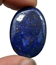 27.76 CT NATURAL BLUE LAPIS LAZULI GOLD FLAKES OVAL CABOCHON LOOSE GEMSTONE