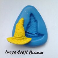 Silicone Mould Witches Hat Halloween Sugarcraft Cake Pop Topper Decorating Fimo