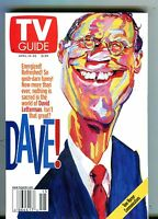 TV Guide Magazine April 14-20 2001 David Letterman EX No ML 101316jhe