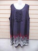 Sheego navy dress size 30 print and mesh detail Sleeveless BNWT G031