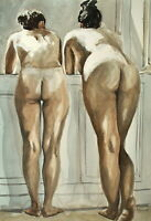 Limited edition Signed Print from original watercolor painting. figure female