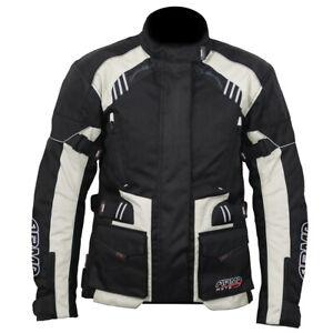 ARMR Moto Kiso 3 Ladies Waterproof Motorcycle Motorbike Jacket - Black/Stone