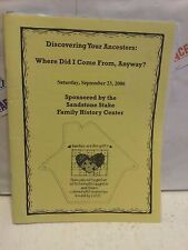 Discovering Your Ancestors: Where Did I come From, Anyway.  PAPERBACK BOOK USED