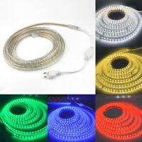 220V 5050 Warmweiß RGB LED Licht Streifen Wasserdicht Light Strip Stripe+EU Plug