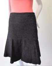 REVIEW Women's Skirt NWT Size 8 or US 4  Black Ruffle Hem Jacquard