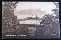 Vintage Postcard 545/232 - 'Glen Sannox' At The Pier Lamlash Scotland - c1910s