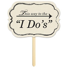 """""""THIS WAY TO THE I DO'S"""" WEDDING GARDEN SIGN DECORATION"""
