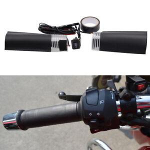 12V ATV Bike Motorcycle Heating Grip Handlebar Hand Heater w/ Switch Accessories