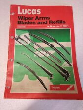 LUCAS WIPER ARMS BLADES AND REFILLS PARTS BOOK UP TO 1987 RB506