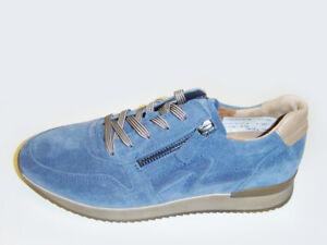 Gabor Halbschuhe Sneaker   jeans-blau   Veloursleder   Größe UK 3,5 4,5 5 7