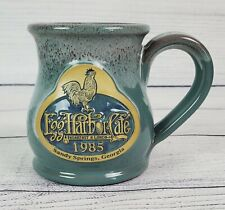 Deneen Pottery 2015 Egg Harbor Cafe Sandy Springs Georgia Round Belly Mug Blue