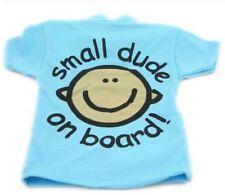 Indigo SMALL DUDE ON BOARD T SHIRT Baby Boy On Board Design Car Sign  BN