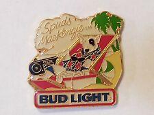 Vintage Budweiser Beer Bud Light Spuds MacKenzie Boombox Beach Lapel Pin