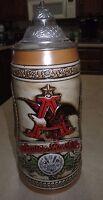 Vintage~Anheuser Busch~Budweiser~Lidded Beer Stein~Limited Edition A Series~NIB